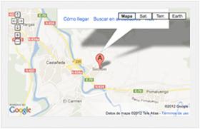 Localización Hospederia Santa Cruz - Cantabria
